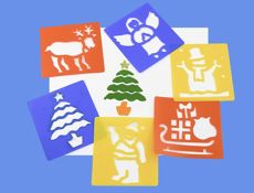 Washable Stencils - Christmas