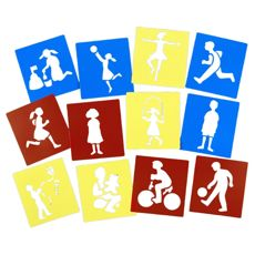 Washable Stencils - Giant People Pack of 12