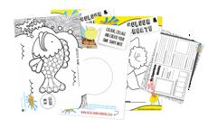 Childrens Art & Crafts 24 Activity Sheets