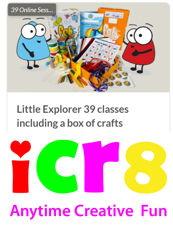 ICR8 Little Explorer Colours, Shapes & Textures PLUS  Crafts, Journey Book  and Stickers