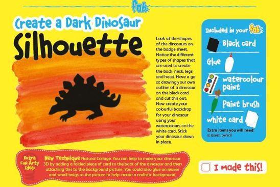 Make a dino silhouette