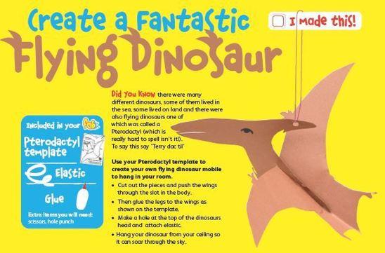 Make  a flying dinosaur