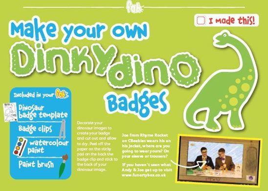 Make a dino badge