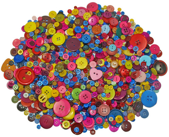 Large bag of assorted Buttons - 500 grams