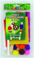 Lollipop Family and Pets Craft Pack