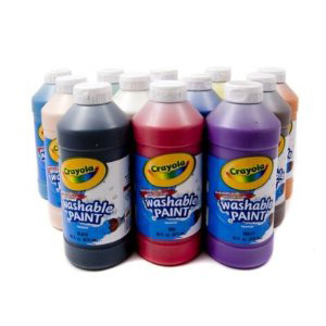 Crayola Washable Mixed Paint - 12 x 473ml bottles