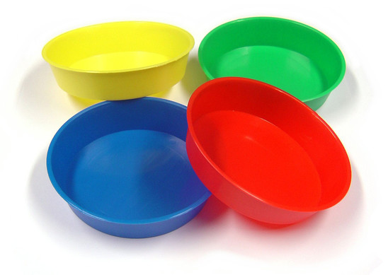 Round Trays for Painting, craft and collage set of 4
