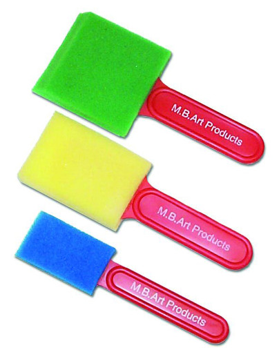 Sponge Painting Brushes x 3