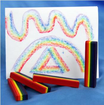 Rainbow Crayons x 25