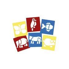 Washable Stencils - Animals x 6