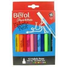 Berol Fabric Pens x 12